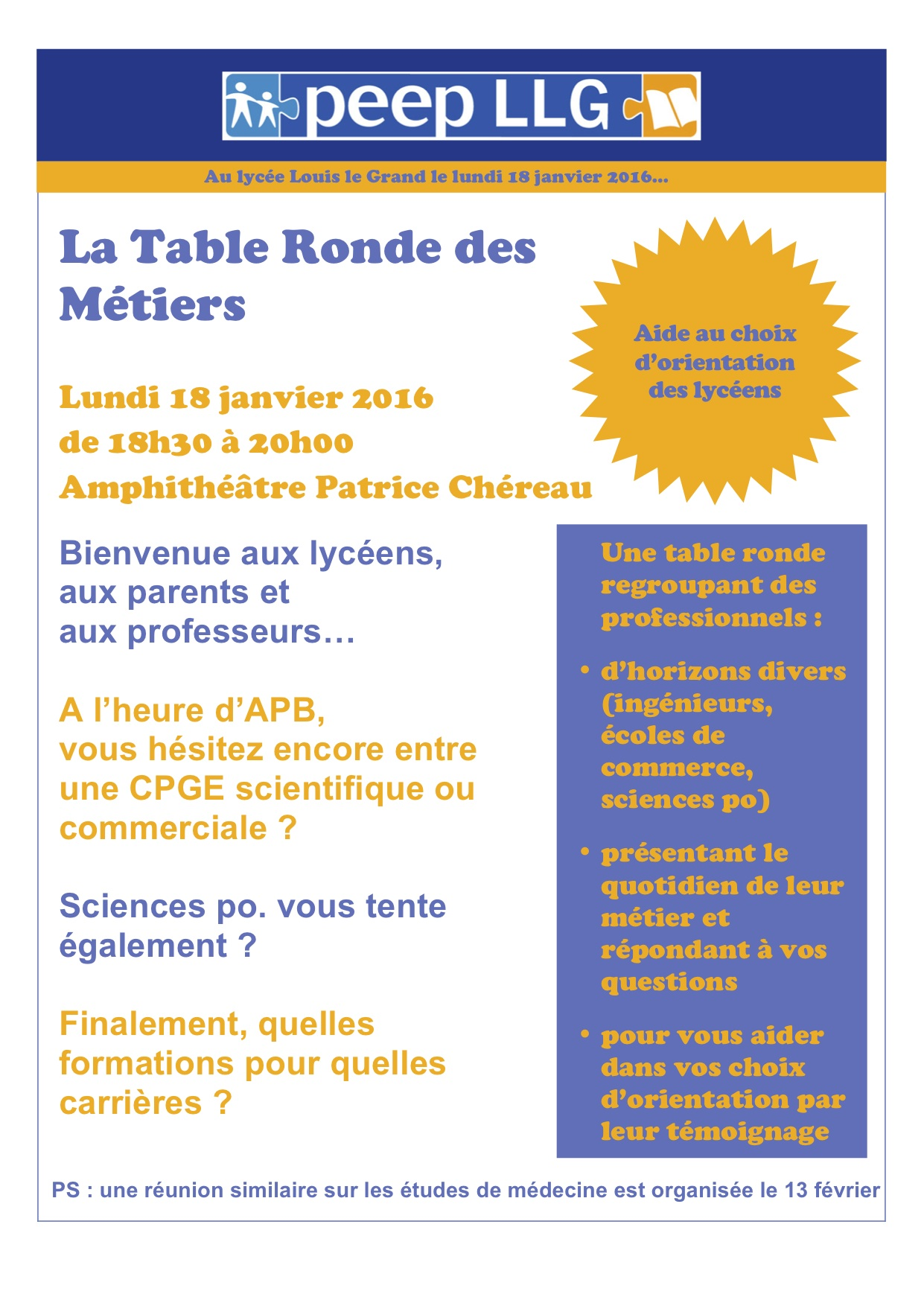Table Ronde Affiche 2016